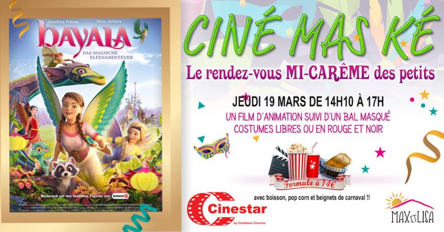 Ciné Mas ké pour la Mi Carême.  : Un film + Un DJ + Un groupe de Ti Mass