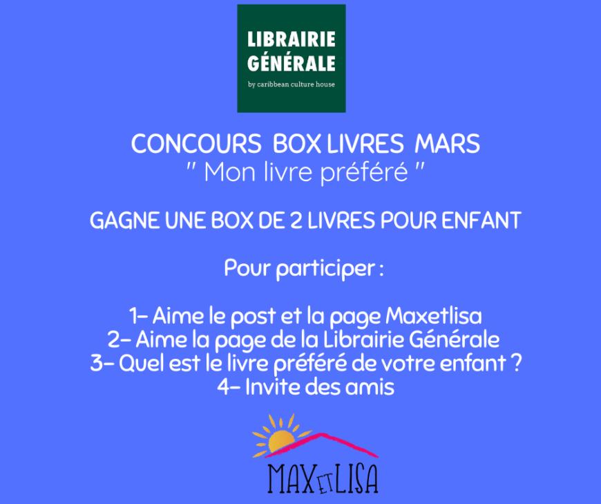 Concours Box livres «IMAGIN'BOX» avec la Librairie Générale – Mars 2020