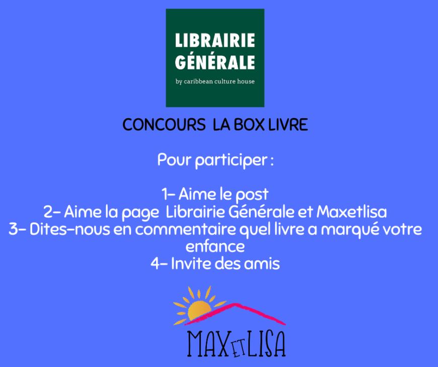 Concours Box livres «IMAGIN'BOX» avec la Librairie Générale – Janvier 2020