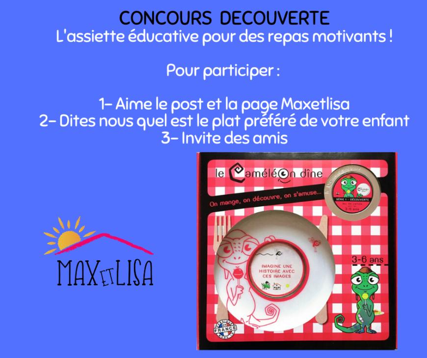 Concours » Découverte» L'assiette éducative – Maxetlisa janvier 2020