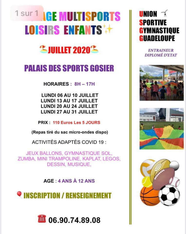 Stage multisports loisirs enfants 4-12 ans