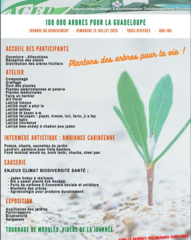 100 000 Arbres pour La Guadeloupe -Une sortie gratuite en famille ce dimanche