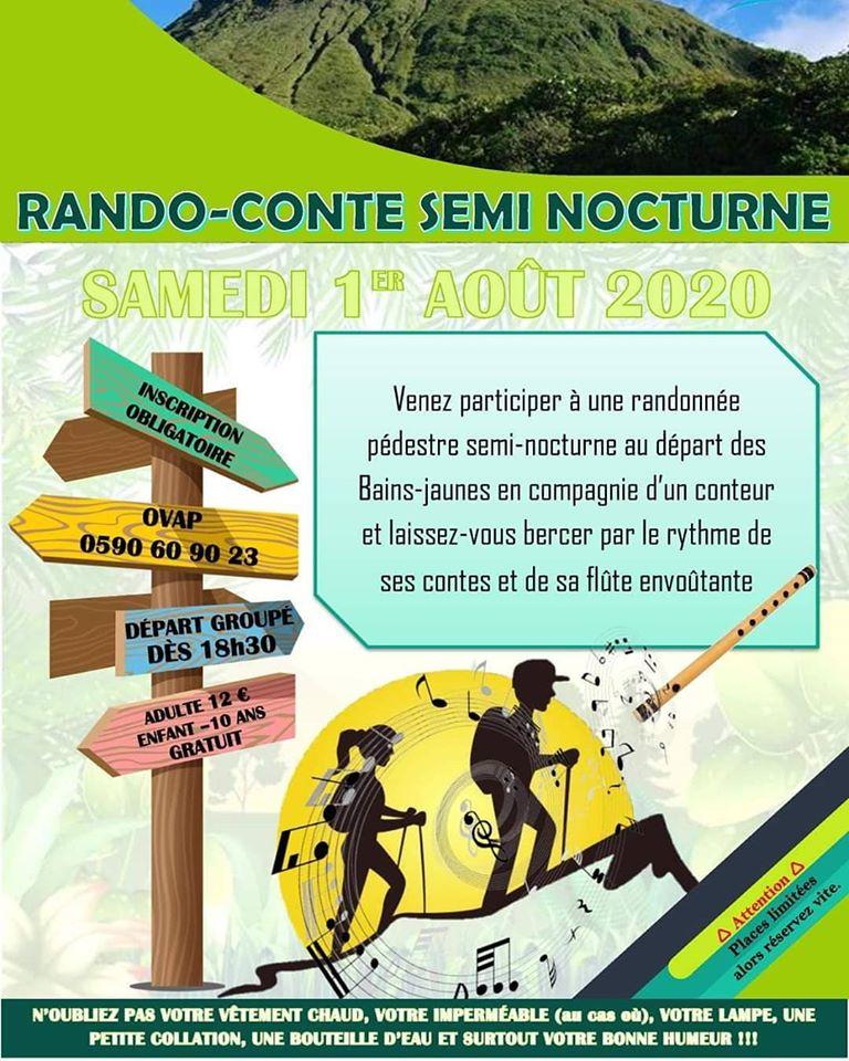 Rando-conte semi-nocturne du samedi 1er Août