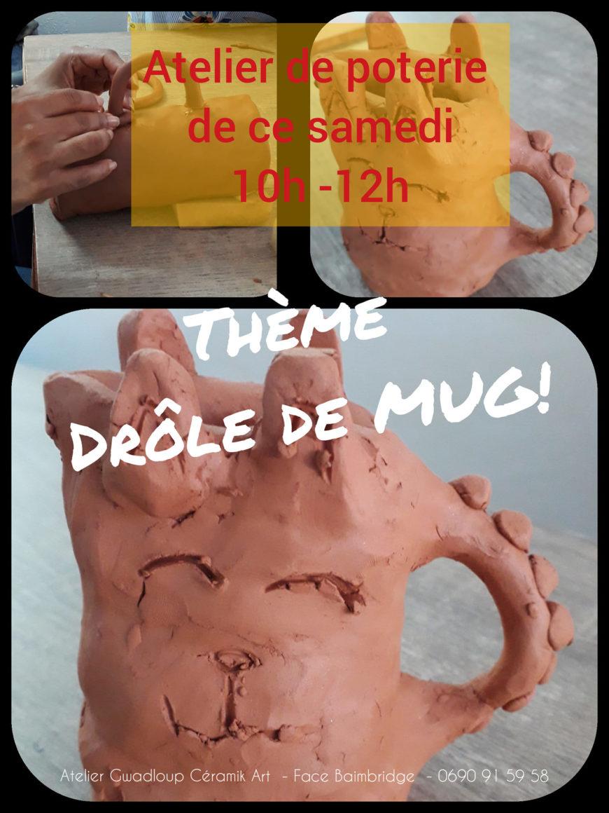 Le samedi : L'atelier de poterie vous attend tous les samedis