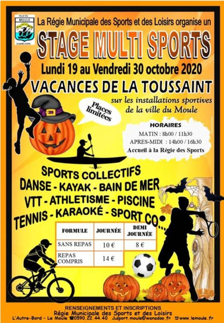 Vacances de toussaint : Stage multi sports au Moule