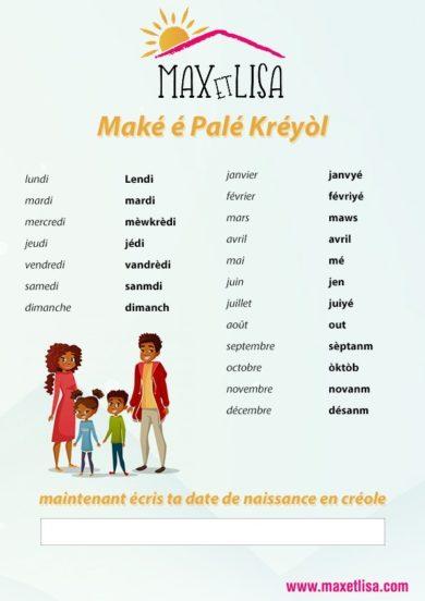 28 octobre journée du créole !
