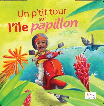 Idée cadeau – Un p'tit tour sur l'île papillon – Livre personnalisé avec la photo et le prénom de l'enfant