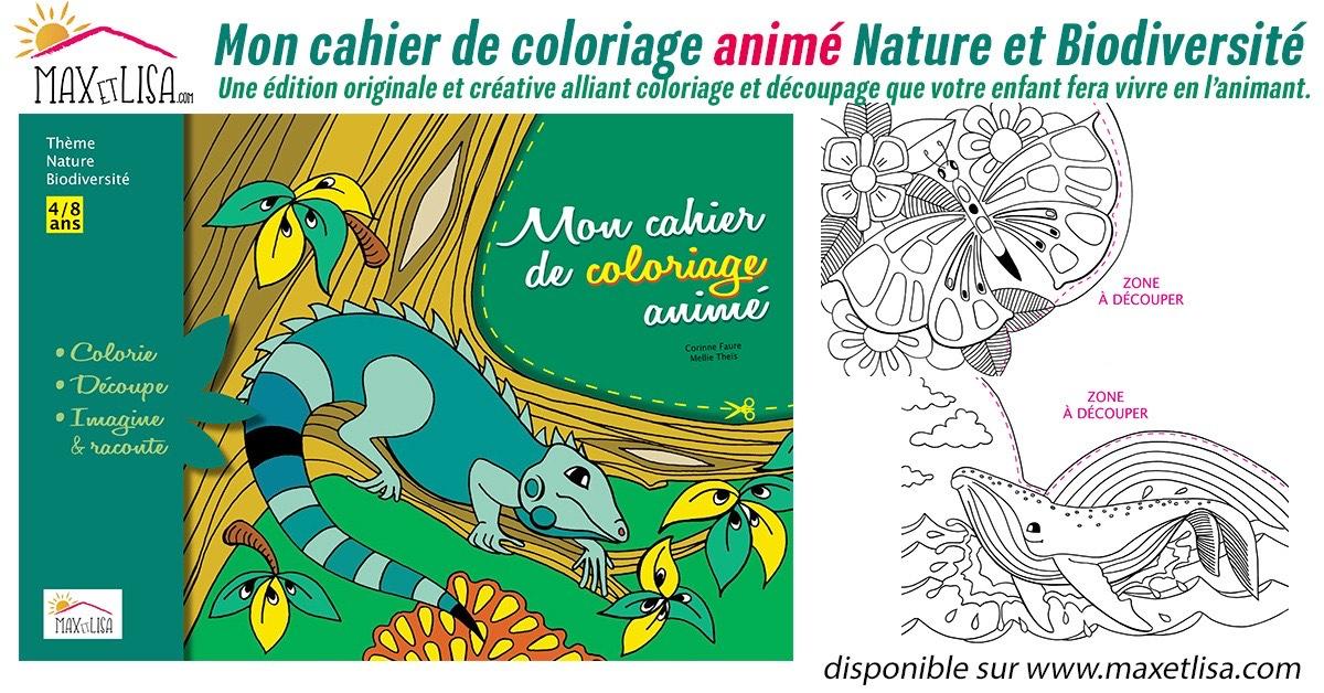 Mon cahier de coloriage animé – 4/8 ans : Nature et Biodiversité