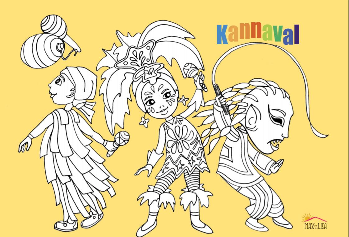 Coloriage à télécharger sur le thème : KANNAVAL