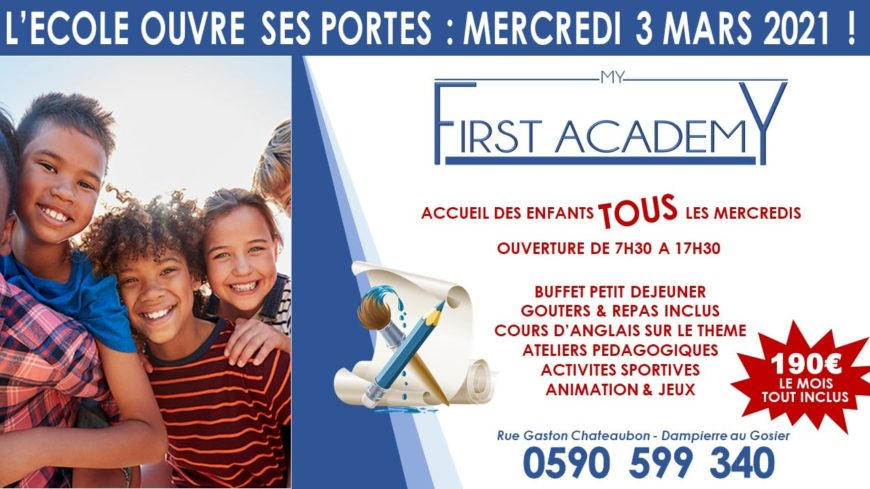 Accueil de loisir du mercredi – My First Academy – Gosier