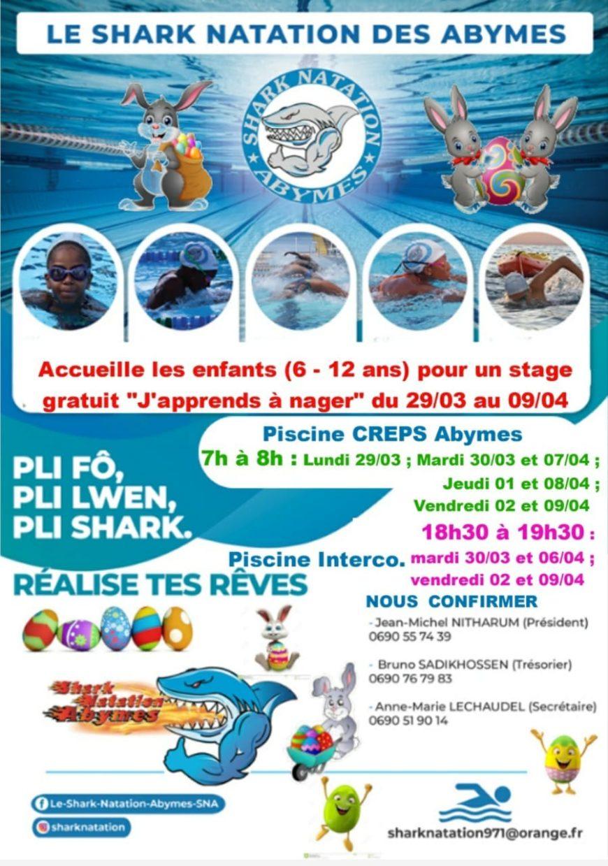 Vacances de Pâques – J'apprends à nager – Les Abymes 6/12 ans