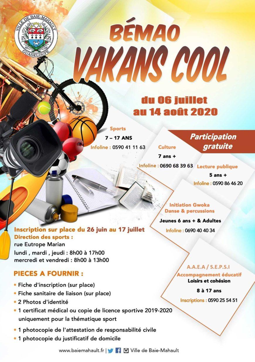 Bémao Vakans Cool – Baie Mahault – Juillet et Aout