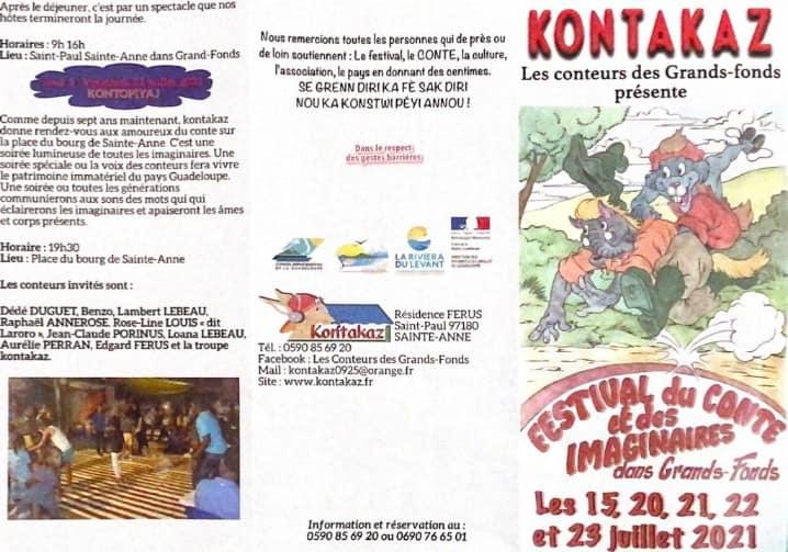 Festival du conte avec kontakaz 15,16,17 ,20,21,22,23 Juillet