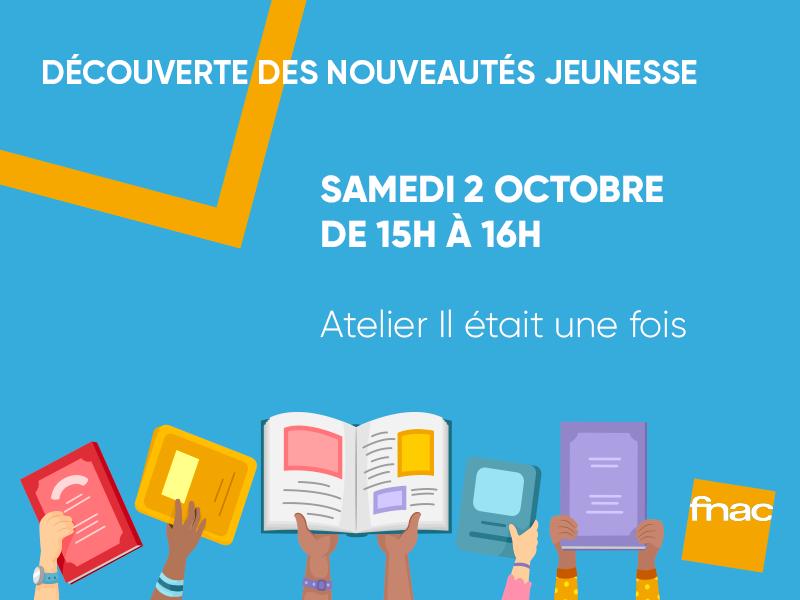 RDV Littérature Jeunesse – gratuit – Fnac Petit-Bourg