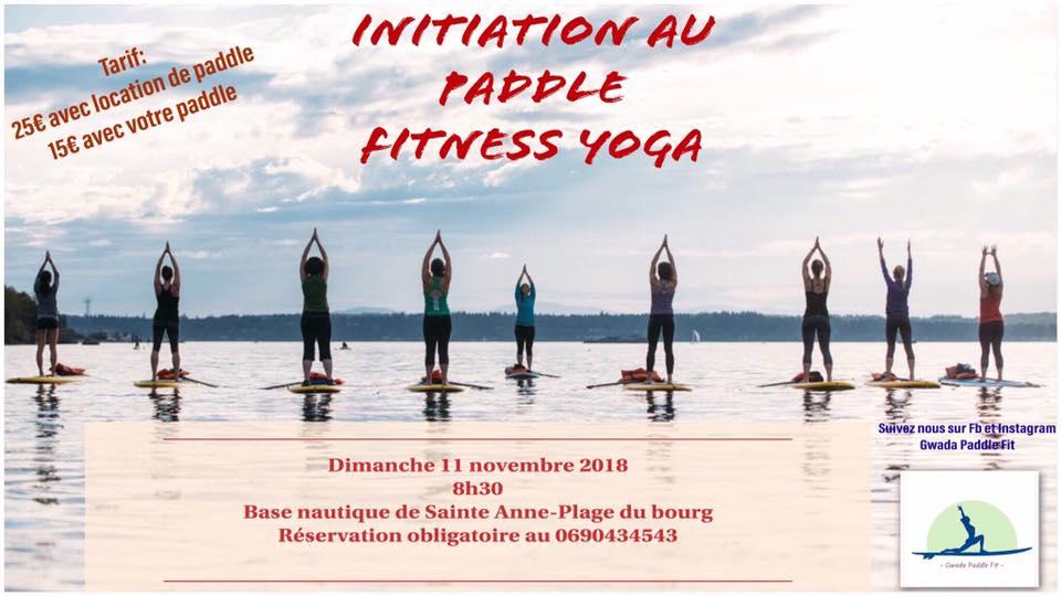 Initiation Paddle Fitness Yoga avec Gwada Paddle Fit