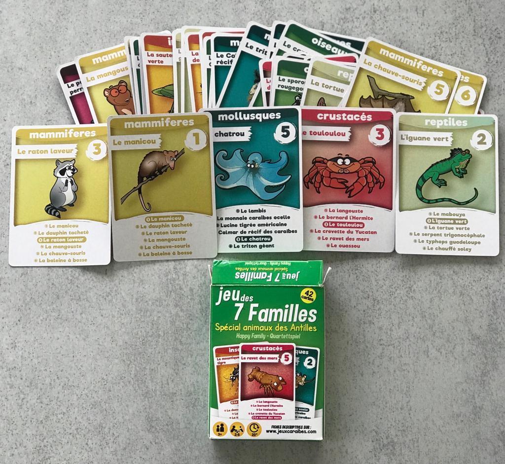 Jouer et apprendre avec le jeu des 7 familles version locale
