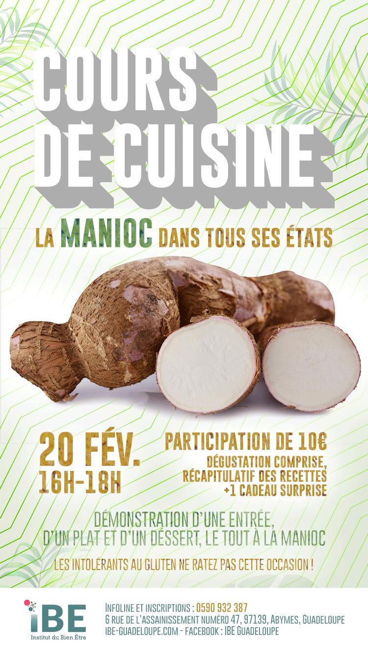 Cours de cuisine la manioc dans tous ses tats max et lisa - Cours de cuisine en guadeloupe ...