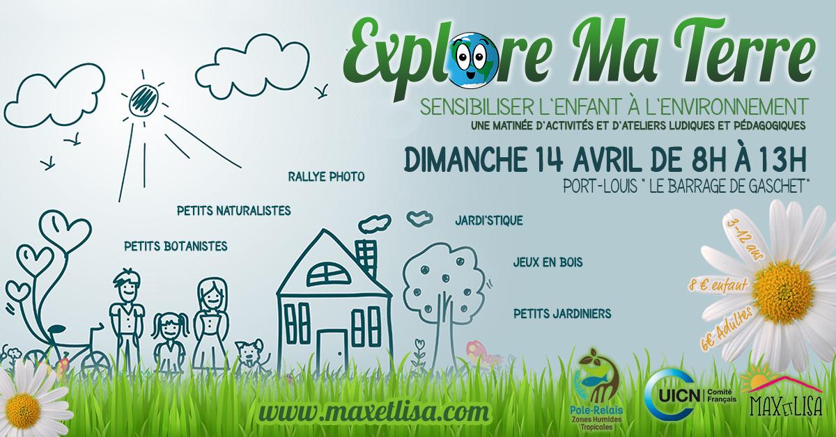 ACTIVITÉ :  Explore ma terre – Sensibiliser l'enfant à l'environnement – Le 14 avril