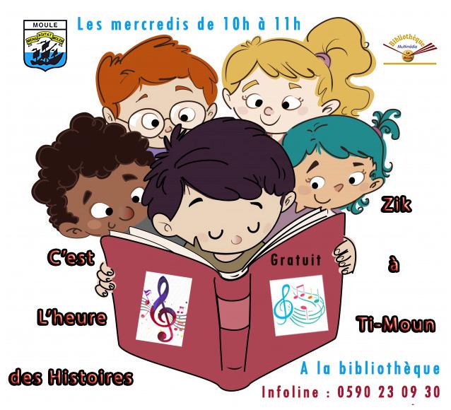 Zik à Ti-Moun à la bibliothèque multimédia du Moule -le mercredi de 10h à 11h