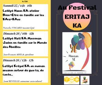 Les ateliers Yé ManMan Yé au festival ERiTAJ LE 26 MAI