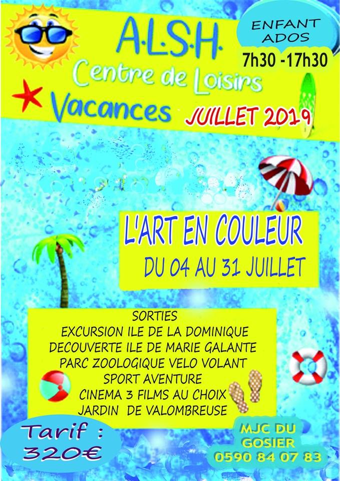 Accueil de loisirs de la MJC du Gosier du 4 au 31 juillet – 320 €