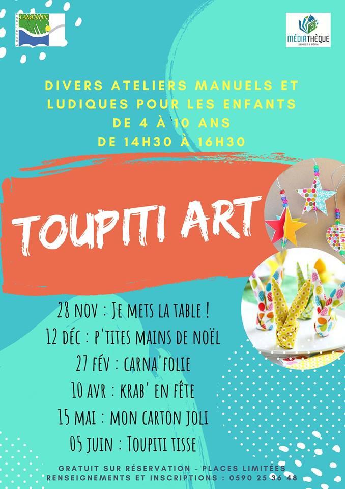 Atelier créatif TOUPITI ART….