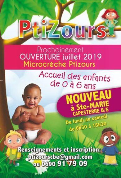 """Une nouvelle micro crèche à Capesterre """"PtiZours"""" de 0 à 6 ans ouverture en Juillet"""