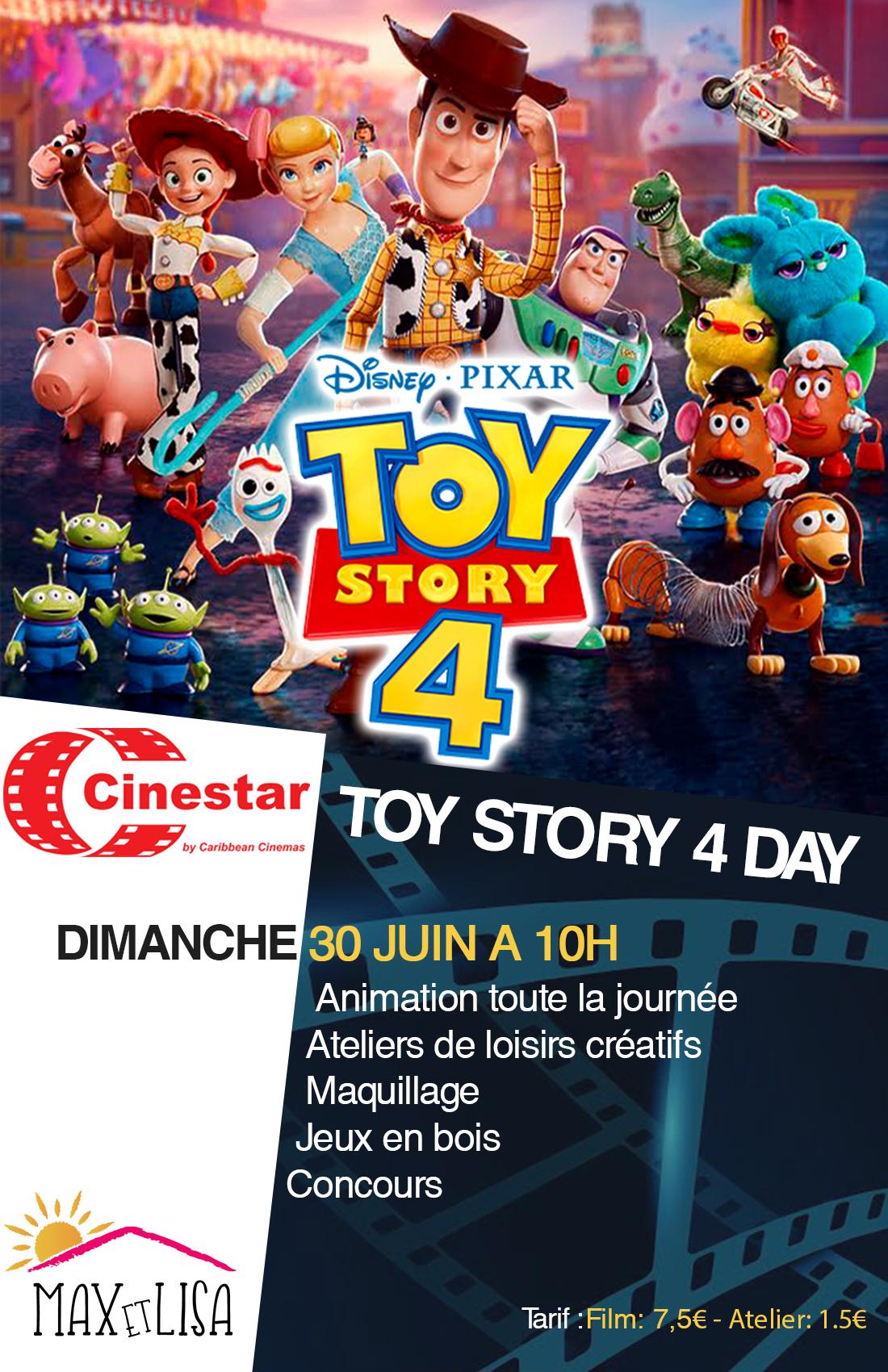 Concours TOY STORY 4 ! 2 places à gagner pour l'anniversaire du Cinestar du 28 au 30 juin