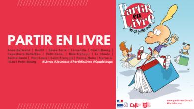 """Les rdv de  """"Partir en Livre""""  en Guadeloupe"""