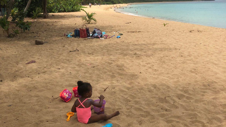 Le 15 août en famille au Karacoli beach à Deshaies