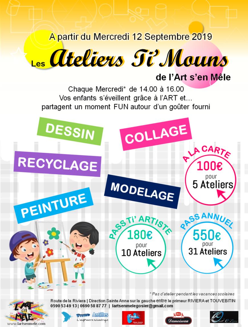 ATELIERS TI'MOUNS – le mercredi de 14 à 16h