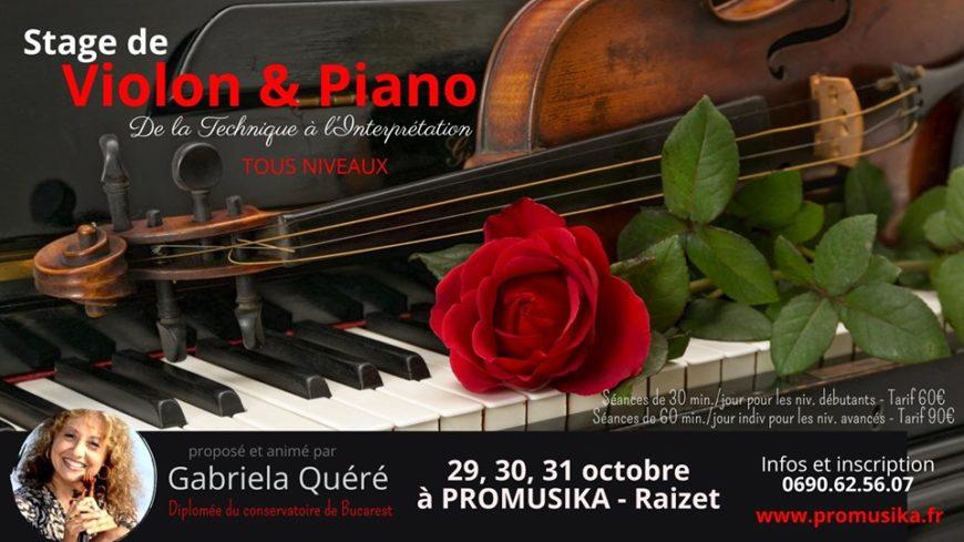 Stage de violon et piano avec Gabriella Quéré