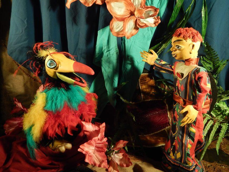 Spectacle de marionnettes Témoé, l'ami du soleil de la Compagnie Moov'art à la Bibliothèque Louisy Mathieu
