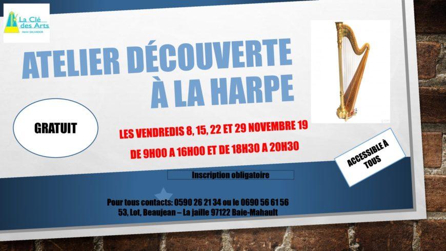 Atelier découverte à la harpe – gratuit