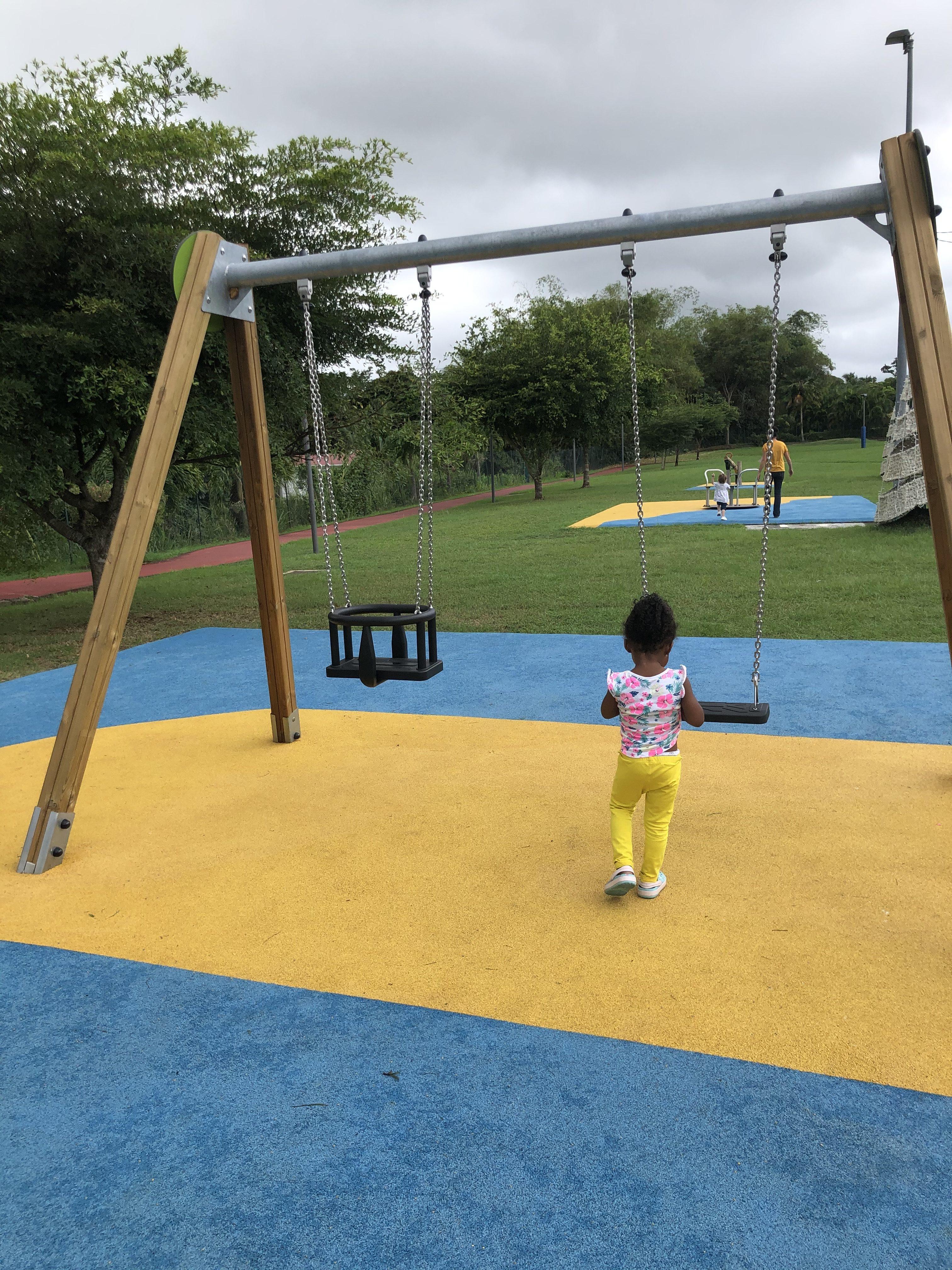 Baie-Mahault / Aire de jeux : Réouverture du parc de Baie- Mahault » Parc hyacinthe Bastaraud»