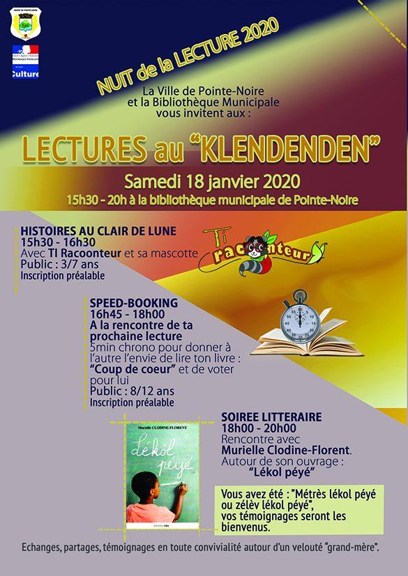 """Nuit de la lecture """" Lectures au klendenden"""" – Pointe Noire"""
