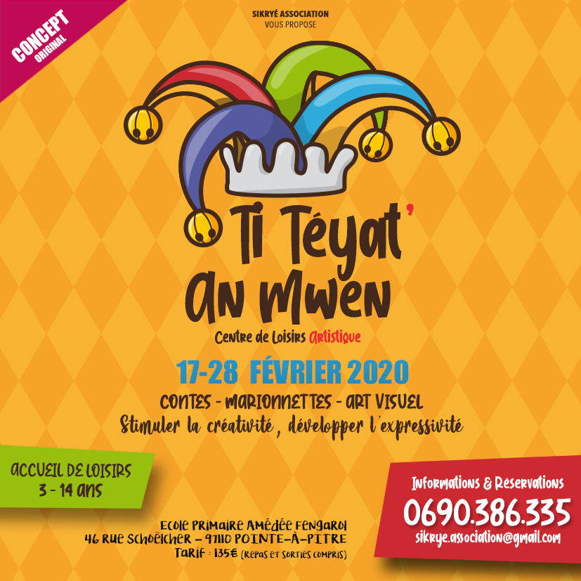 Stage de carnaval – TI TEYAT AN MWEN – Sikryé association
