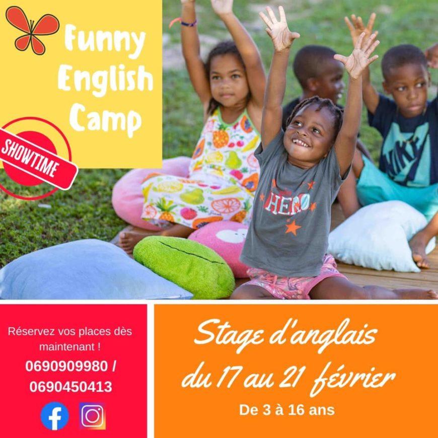 Les vacances de carnaval approchent, le Funny English Camp « Showtime » Le Moule – Gosier- Petit Bourg – Baie Mahault