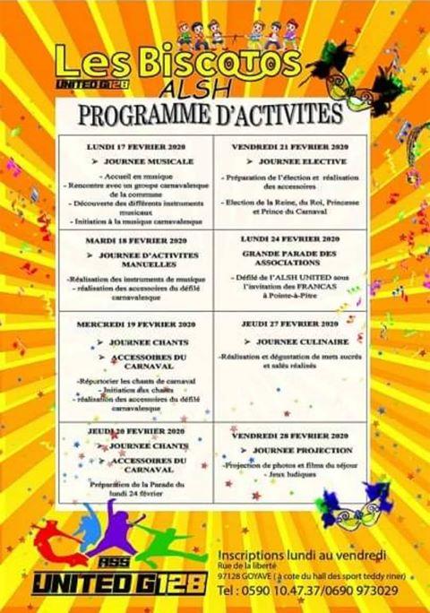 Vacances de carnaval : ALSH du 17 au 28 février à Goyave