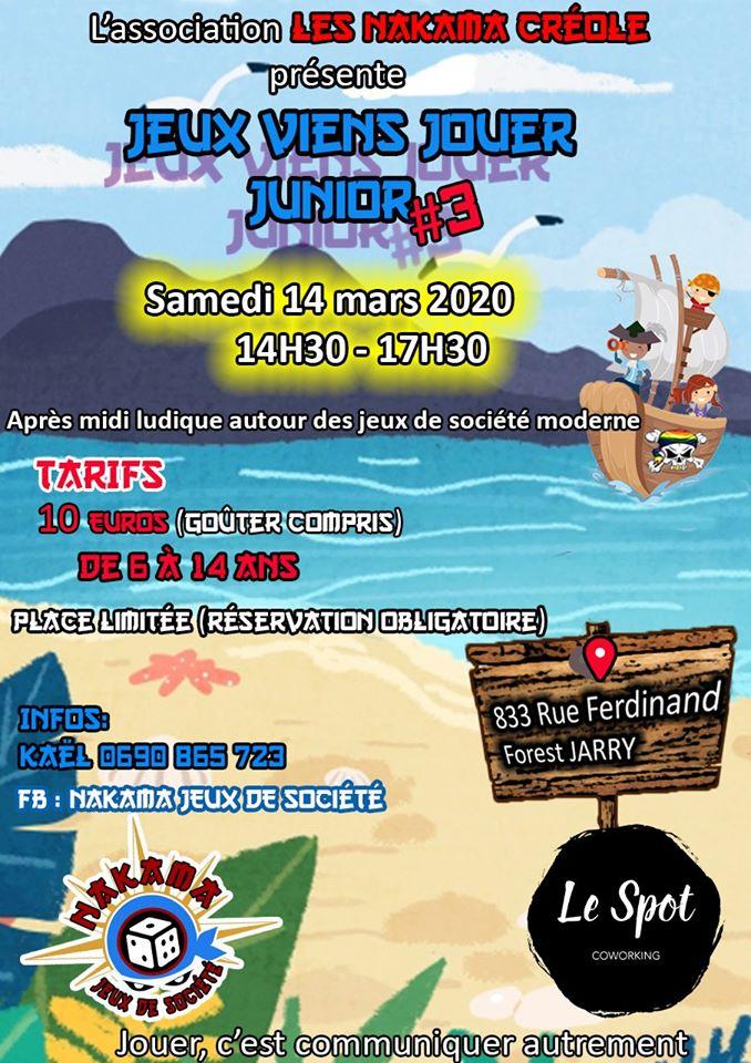 JVJ (Jeux Viens Jouer) Junior, après midi ludique!