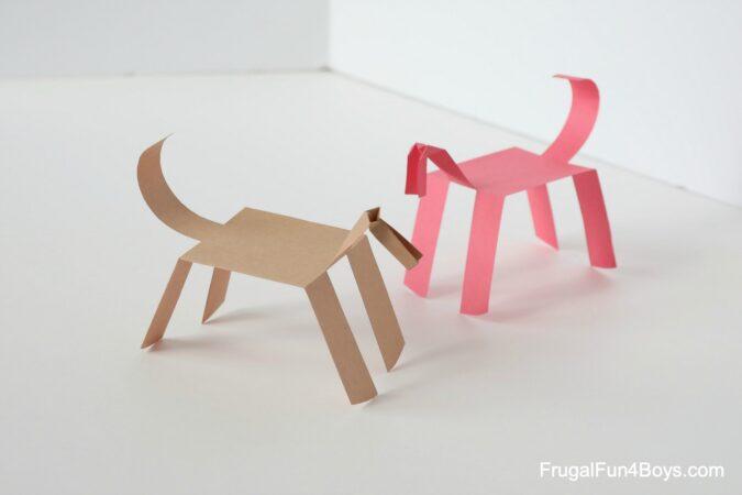 Un cheval en papier qui marche !