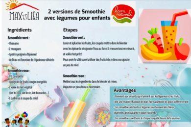 Ma p'tite recette : Smoothie Fruits & légumes ! Rose ou Vert ?