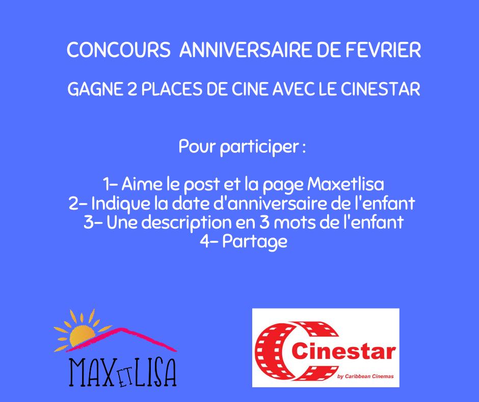 Concours Anniversaire «HAPPY DAY» avec Le Cinestar – Février 2020