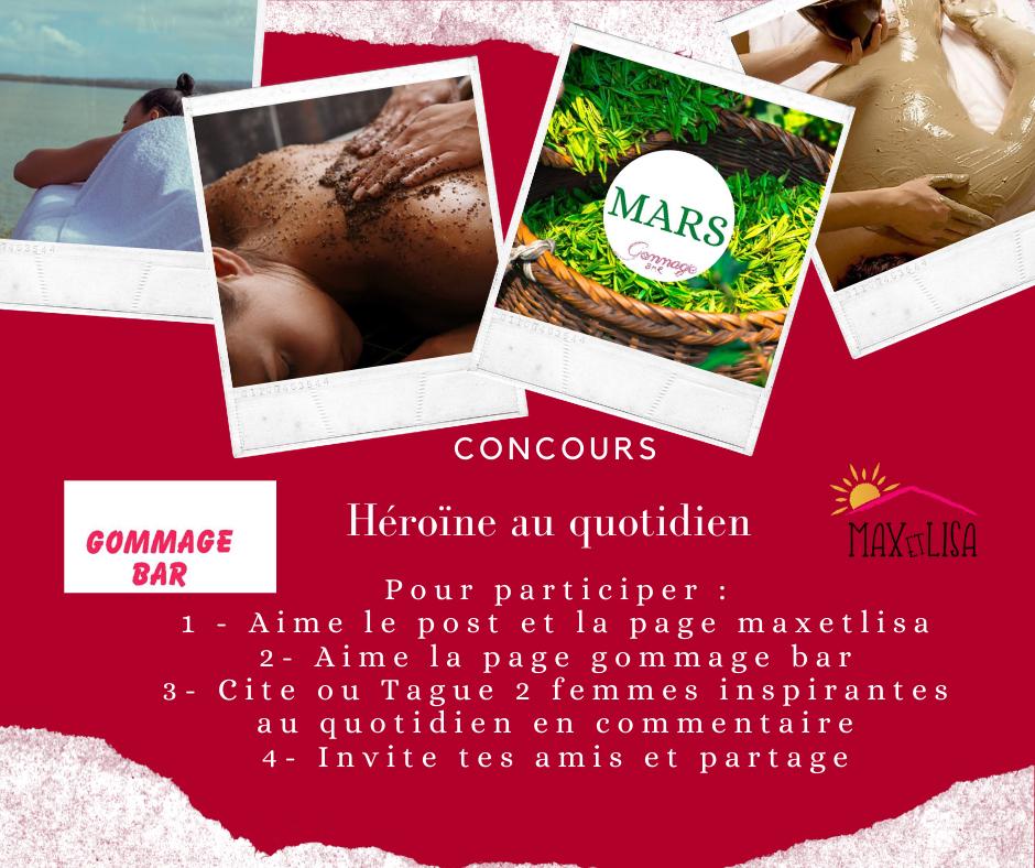 Concours journée de la Femme – Gommage Bar – Mars 2020