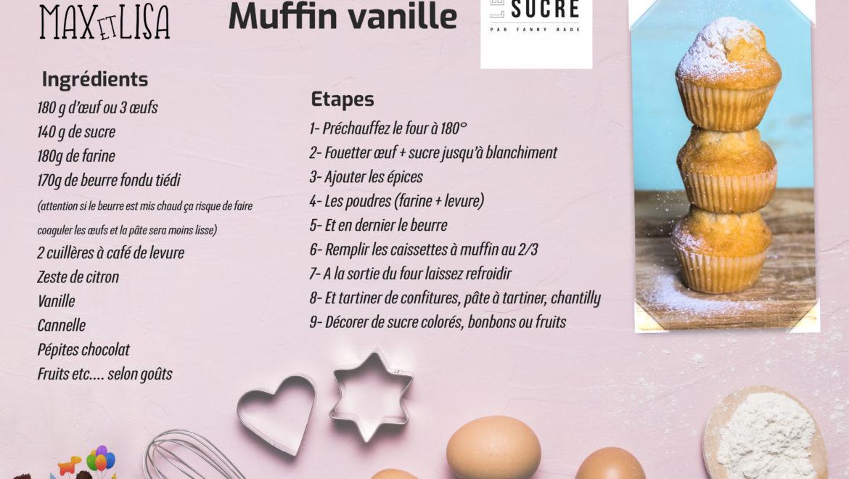 Ma p'tite recette : Muffin Vanille