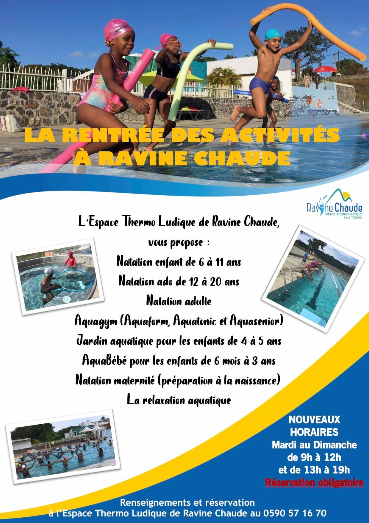 LA RENTRÉE DES ACTIVITÉS DE RAVINE CHAUDE