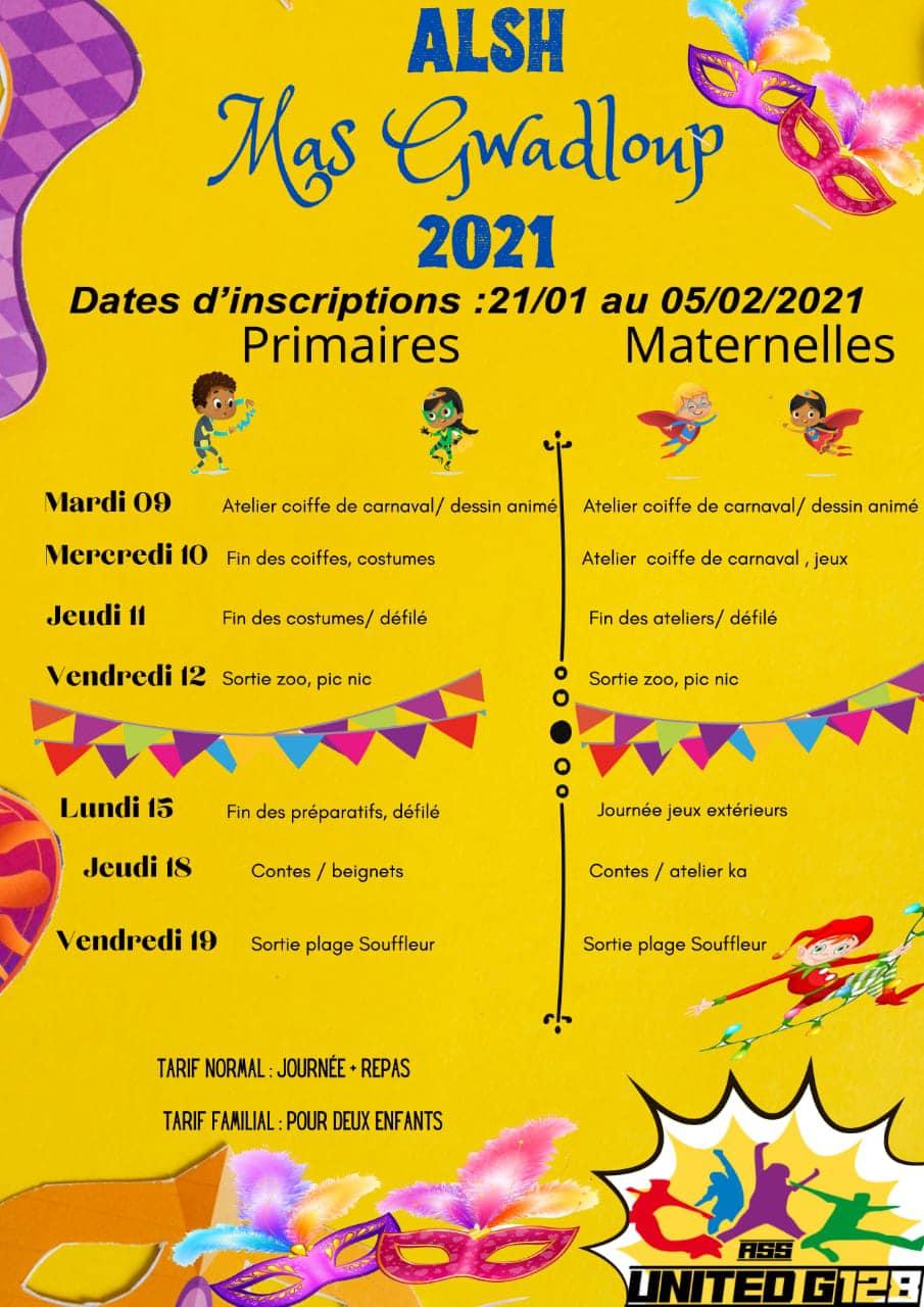 Vacances de Carnaval – Multi activités – Goyave