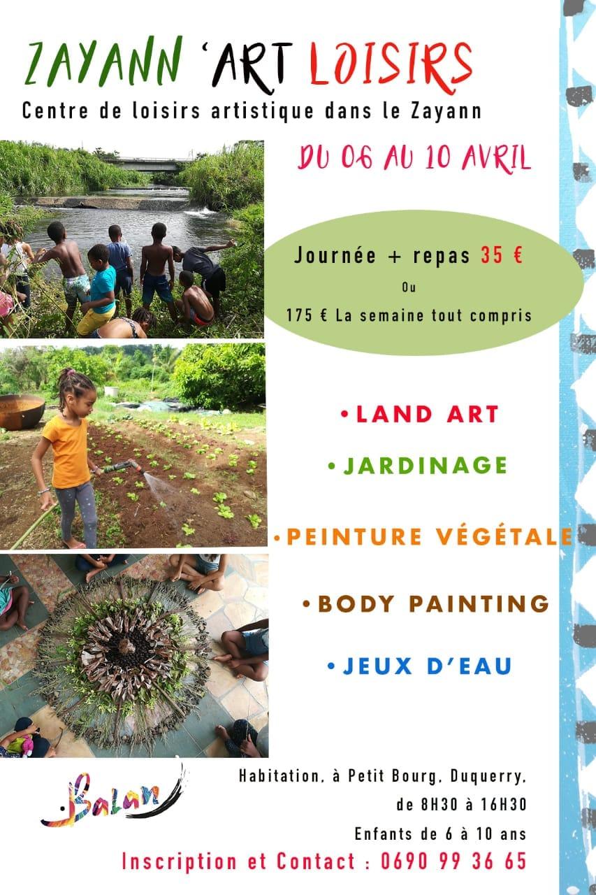 Vacances de Pâques- Zayann Art'Loisirs- Petit Bourg