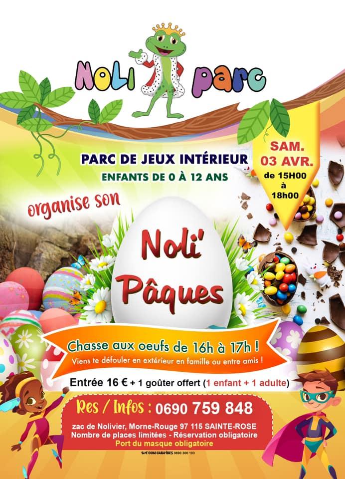 Chasse aux œufs de Pâques – NoliParc – Sainte Rose