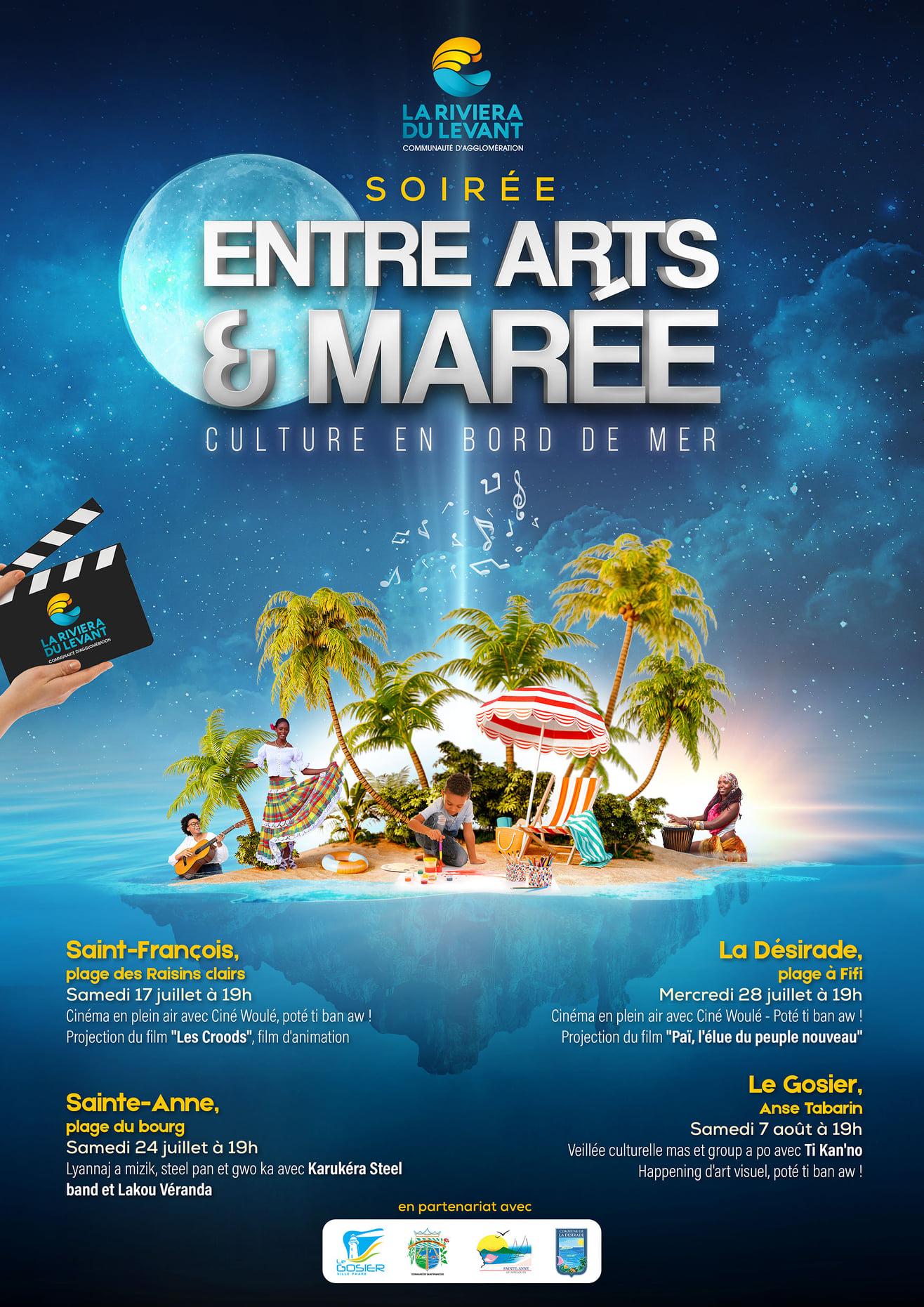 Soirée entre Arts &Marée – Culture en bord de mer -Ciné Woulé